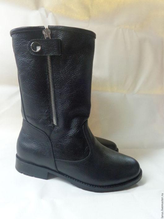 Обувь ручной работы. Ярмарка Мастеров - ручная работа. Купить Мужские сапоги с молнией. Handmade. Черный, зимняя обувь, сапоги