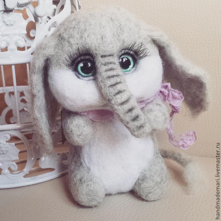 Elephant toy from felt, Stuffed Toys, Moscow,  Фото №1