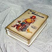 """Для дома и интерьера ручной работы. Ярмарка Мастеров - ручная работа Маленькая шкатулка-книга """"Алиса в стране чудес"""". Handmade."""