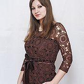 Одежда handmade. Livemaster - original item Dress Haze chocolate color. Handmade.