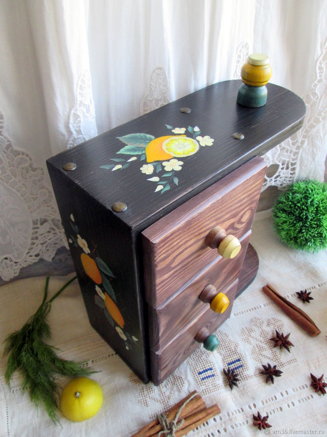 Chest of drawers 'the Country of lemons' Painted (pine), Utensils, Voronezh,  Фото №1