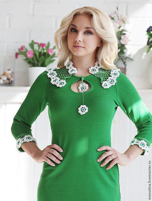 """Платья ручной работы. Ярмарка Мастеров - ручная работа. Купить Платье """"Сочная зелень"""". Handmade. Зеленый, полушерсть"""