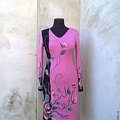 Одежда ручной работы. Ярмарка Мастеров - ручная работа платье вязаное 14. Handmade.