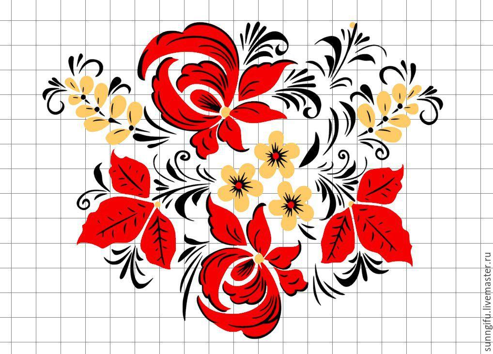 Цветы народный узор