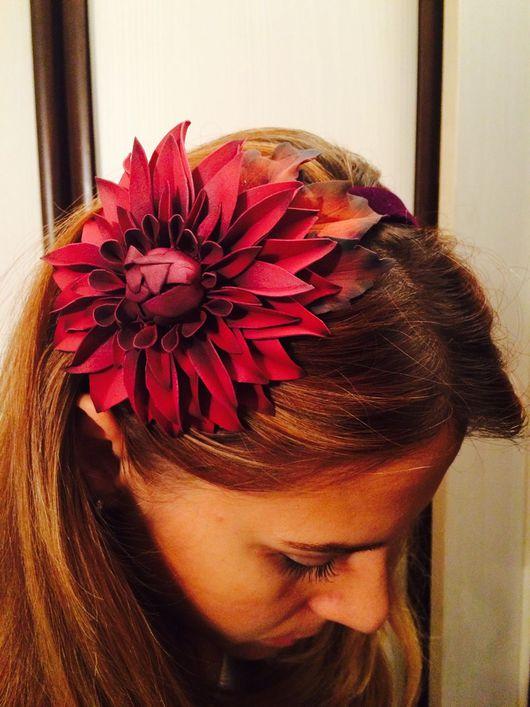 """Диадемы, обручи ручной работы. Ярмарка Мастеров - ручная работа. Купить Ободок """"Осенние мотивы"""". Handmade. Фоамиран, цветы в украшении"""