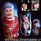 Подарки к праздникам ручной работы. Ярмарка Мастеров - ручная работа Портретные матрешки. Handmade.