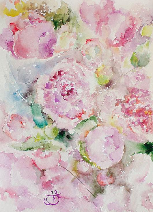 Картины цветов ручной работы. Ярмарка Мастеров - ручная работа. Купить Цветочный ветер. Handmade. Нежность, картины с цветами