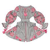 """Одежда handmade. Livemaster - original item Короткое платье с клиньями """"Цветочный Соблазн"""". Handmade."""