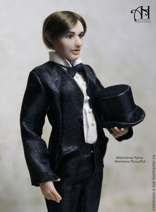 Кукольный дом ручной работы. Ярмарка Мастеров - ручная работа. Купить Николай (12,5 см). Handmade. Чёрно-белый