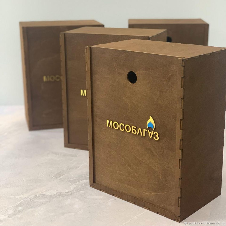 Подарочная коробка. Деревянная коробка, Атрибутика, Москва,  Фото №1