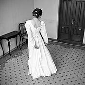 Свадебный салон ручной работы. Ярмарка Мастеров - ручная работа Свадебное платье из хлопка. Handmade.