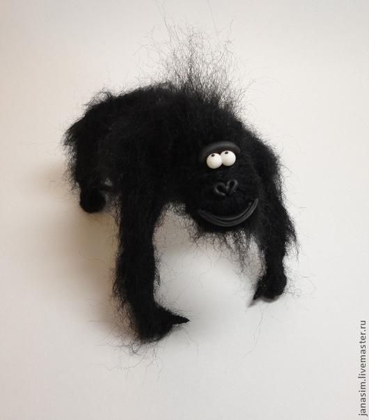 Игрушки животные, ручной работы. Ярмарка Мастеров - ручная работа. Купить Горилла. Handmade. Черный, горилла, пластика