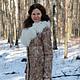 Верхняя одежда ручной работы. Заказать Валяное пальто-дублёнка. Регина (regita). Ярмарка Мастеров. Валяние, валяное пальто, альпака