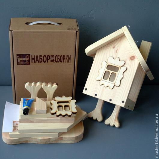"""Развивающие игрушки ручной работы. Ярмарка Мастеров - ручная работа. Купить Набор для сборки - Кормушка """"На курьих ножках"""". Handmade."""