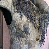 """Одежда ручной работы. Ярмарка Мастеров - ручная работа Валяный жилет """"Осенний мираж"""". Handmade."""