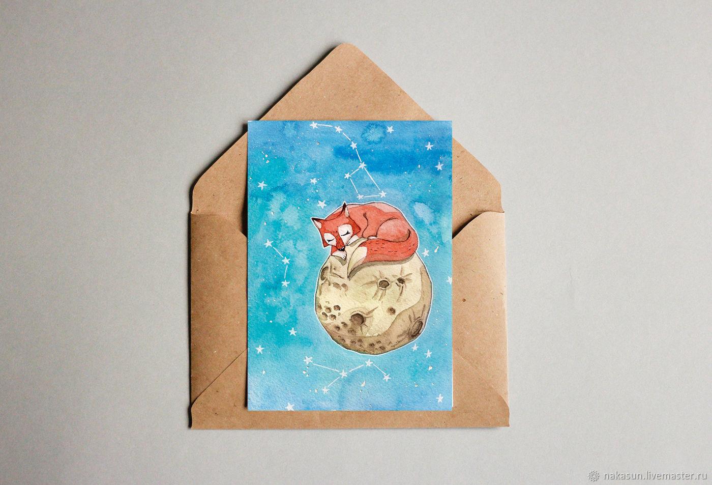 Почтовые открытки луна, найти оригинал