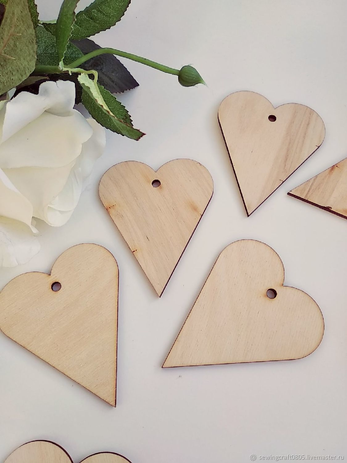 Heart. Figure for decoration made of plywood 3 mm, Blanks for decoupage and painting, St. Petersburg,  Фото №1