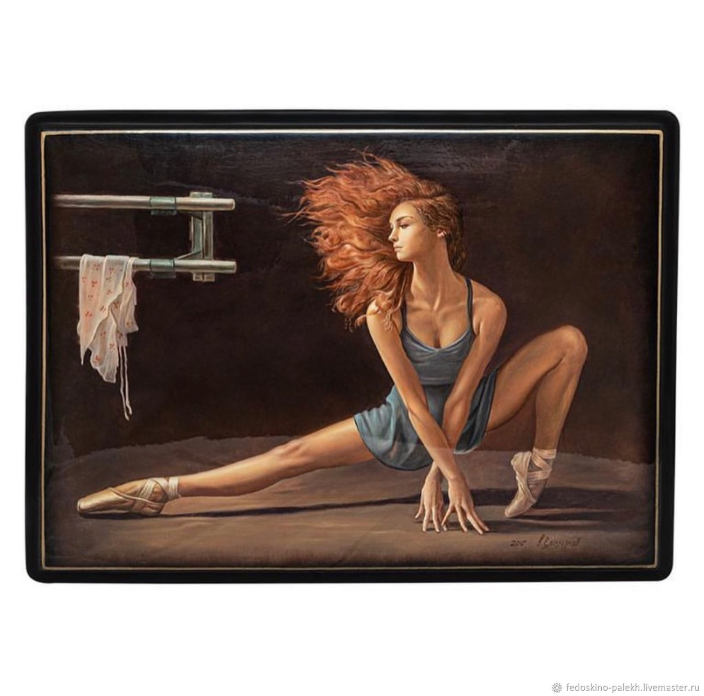 Шкатулка с лаковой миниатюрой «Балет», Шкатулки, Москва,  Фото №1