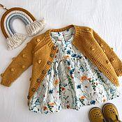"""Платье ручной работы. Ярмарка Мастеров - ручная работа Льняное платье для девочки """"Полевые цветы"""". Handmade."""