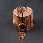 handmade. Livemaster - original item The pendant on the chain of wood