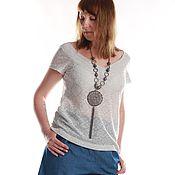 Одежда handmade. Livemaster - original item Knit blouse with a deep neckline. Handmade.
