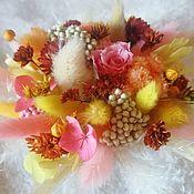 Букеты ручной работы. Ярмарка Мастеров - ручная работа Букеты из сухоцветов и стабилизированых цветов. Handmade.