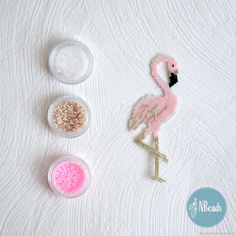 Схема фламинго из бисера 380