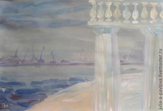 Картина современного художника Юлии А.Павловой Вид на Васильевский остров