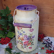 """Посуда ручной работы. Ярмарка Мастеров - ручная работа Бидон """"Цветущий сад"""". Handmade."""