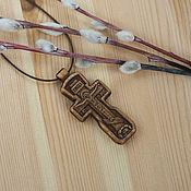 """Подарки к праздникам ручной работы. Ярмарка Мастеров - ручная работа """"Вязьма"""" - деревянный нательный крест-распятие. Handmade."""