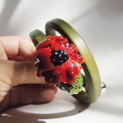Материалы для творчества ручной работы. Ярмарка Мастеров - ручная работа мак солнечный лэмпворк регализ. Handmade.
