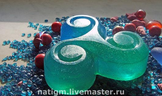 """Мыло ручной работы. Ярмарка Мастеров - ручная работа. Купить Мыло """"Морская волна"""" трехцветное. Handmade. Мыло в подарок"""