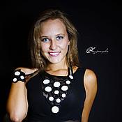 Украшения handmade. Livemaster - original item Jewelry set Gerda. Leather necklace and bracelet.. Handmade.