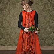 """Одежда ручной работы. Ярмарка Мастеров - ручная работа Платье """"Горькая ягода"""" войлок, нуно-фельт. Handmade."""