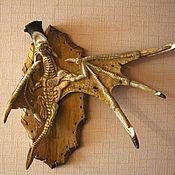 """Картины и панно ручной работы. Ярмарка Мастеров - ручная работа Настенное панно """"Дракон"""" из рога лося. Handmade."""
