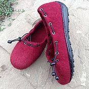 Обувь ручной работы. Ярмарка Мастеров - ручная работа Туфельки валяные. Handmade.