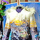 Пиджаки, жакеты ручной работы. Ярмарка Мастеров - ручная работа. Купить Валяный жакет-куртка...Как упоительны в России вечера. Handmade.