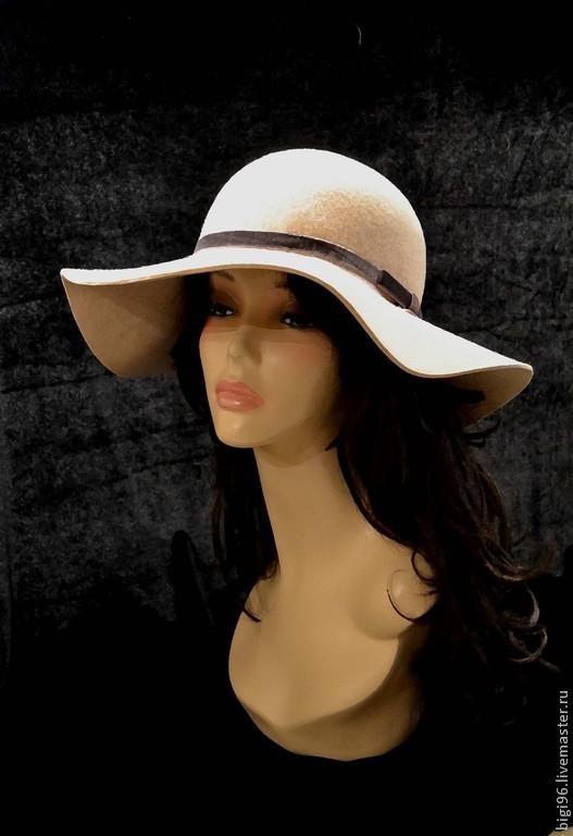 """Шляпы ручной работы. Ярмарка Мастеров - ручная работа. Купить Незнакомка """"Беж"""". Handmade. Бежевый, хиппи стиль, фетр"""