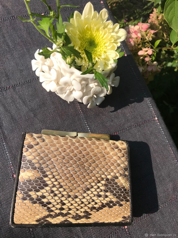 Purse made of genuine snake skin, Holland, Vintage bags, Arnhem,  Фото №1