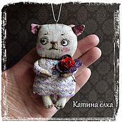 Подарки к праздникам ручной работы. Ярмарка Мастеров - ручная работа Кошка Роза. Handmade.