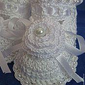 Работы для детей, handmade. Livemaster - original item Booties crochet Lebedushka. Handmade.