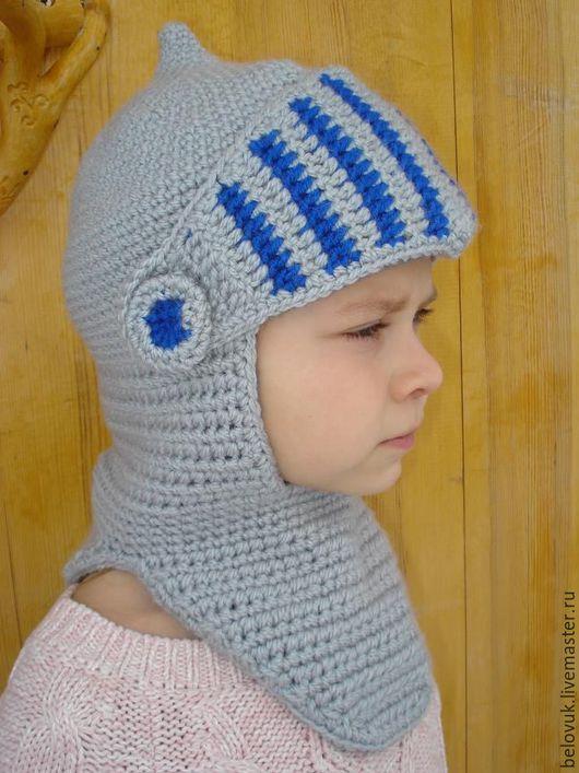 """Шапки ручной работы. Ярмарка Мастеров - ручная работа. Купить Шапка-шлем """"Воин"""". Handmade. Шапка вязаная, шапка с забралом"""