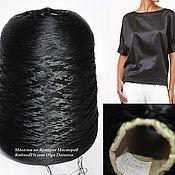 Материалы для творчества handmade. Livemaster - original item Yarn: Silk. Threads silk color black. Silk Hasegawa.. Handmade.