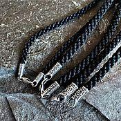 Украшения handmade. Livemaster - original item Chain: Nylon cord (Fern Color) 4 mm. Handmade.