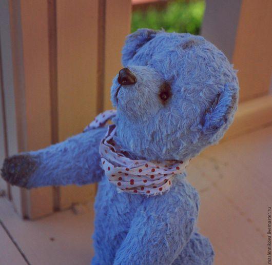 Мишки Тедди ручной работы. Ярмарка Мастеров - ручная работа. Купить Медведь (21см). Handmade. Голубой, медведь игрушка, синтепон