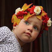 Русский стиль ручной работы. Ярмарка Мастеров - ручная работа Осенний ободок с ягодами и листьями. Handmade.