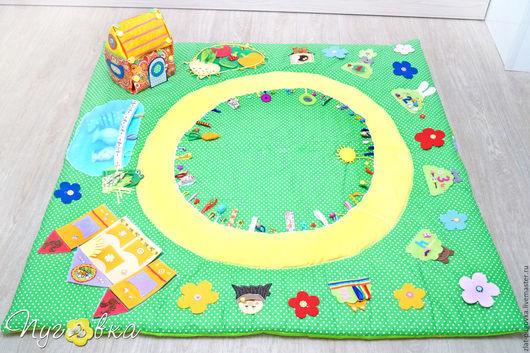 """Развивающие игрушки ручной работы. Ярмарка Мастеров - ручная работа. Купить Детский игровой развивающий коврик """"Сказочки"""". Handmade."""