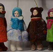 Куклы и игрушки ручной работы. Ярмарка Мастеров - ручная работа Детишки зимние. Handmade.