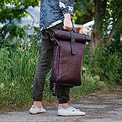 Men\\\`s backpack handmade. Livemaster - original item Backpack leather mens UNISEX DETROIT. Handmade.