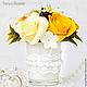 Букеты ручной работы. Заказать Букет с розами и ягодами. Tanya Flower. Ярмарка Мастеров. Цветочная композиция, букет из полимерной глины